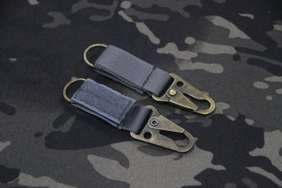Tactical Military Ring Keychain Buckle Clip Holder Tactical Ring