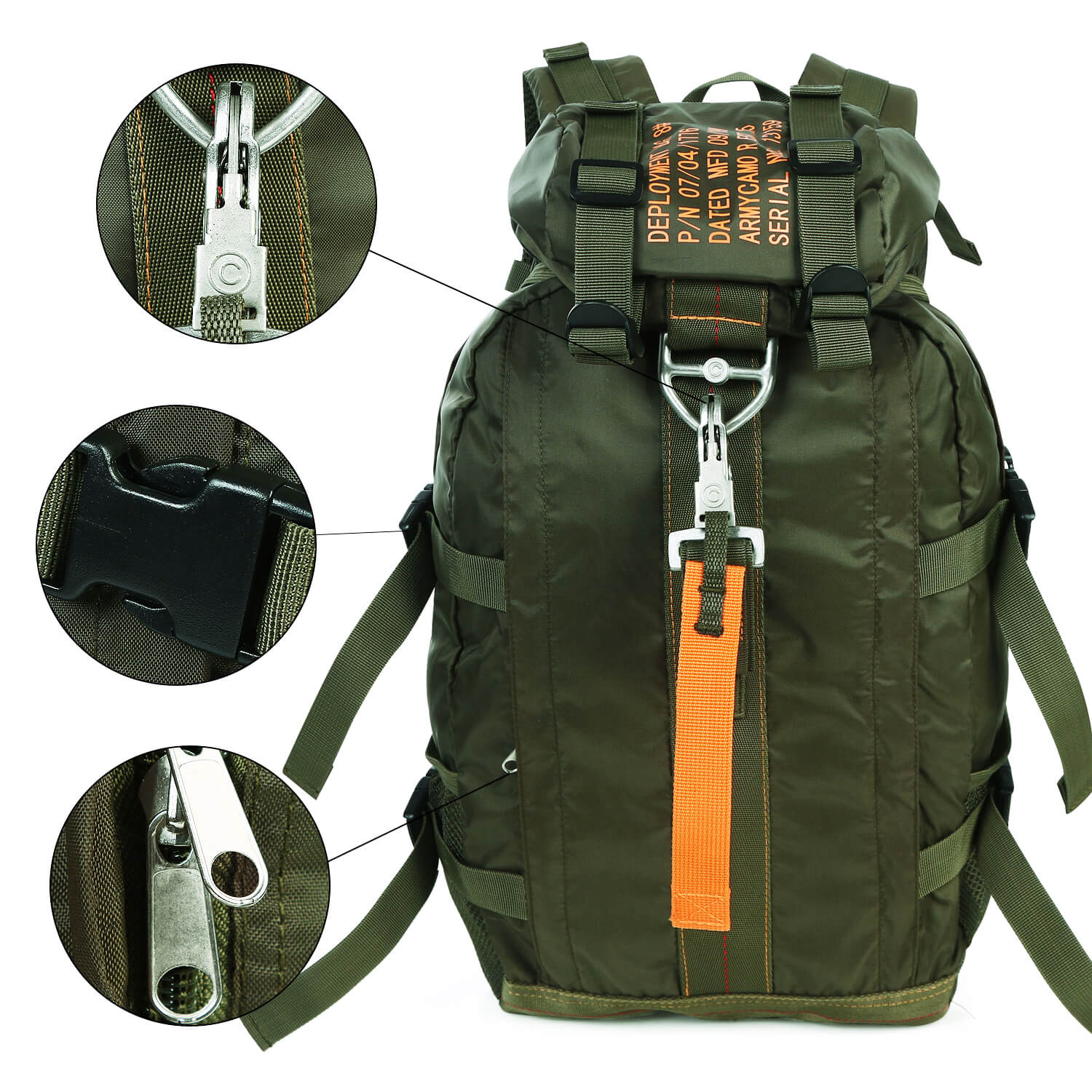 Air Force Parachute Buckles Nylon Tactical Deployment Bag